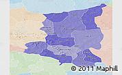 Political Shades Panoramic Map of Sanmatenga, lighten