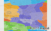 Political Shades Panoramic Map of Sanmatenga