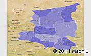 Political Shades Panoramic Map of Sanmatenga, satellite outside