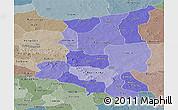 Political Shades Panoramic Map of Sanmatenga, semi-desaturated