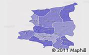 Political Shades Panoramic Map of Sanmatenga, single color outside
