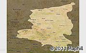 Satellite Panoramic Map of Sanmatenga, darken