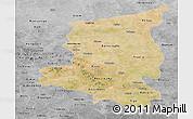 Satellite Panoramic Map of Sanmatenga, desaturated