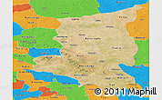 Satellite Panoramic Map of Sanmatenga, political outside