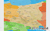 Satellite Panoramic Map of Sanmatenga, political shades outside