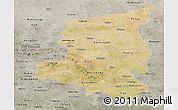 Satellite Panoramic Map of Sanmatenga, semi-desaturated
