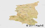 Satellite Panoramic Map of Sanmatenga, single color outside
