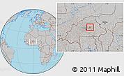 Gray Location Map of Pibaore