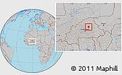 Gray Location Map of Pissila