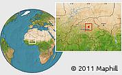 Satellite Location Map of Pissila