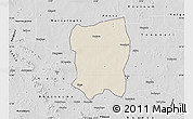 Shaded Relief Map of Pissila, desaturated