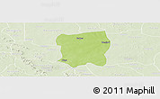 Physical Panoramic Map of Pissila, lighten