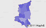 Political Shades Simple Map of Sanmatenga, cropped outside