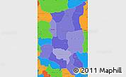 Political Shades Simple Map of Sanmatenga, political outside