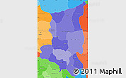 Political Shades Simple Map of Sanmatenga