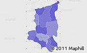 Political Shades Simple Map of Sanmatenga, single color outside