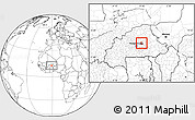 Blank Location Map of Ziga