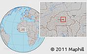 Gray Location Map of Ziga
