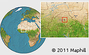 Satellite Location Map of Ziga