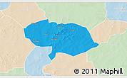 Political 3D Map of Bani, lighten