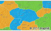 Political 3D Map of Bani