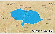 Political 3D Map of Bani, satellite outside