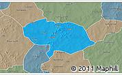 Political 3D Map of Bani, semi-desaturated