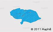 Political 3D Map of Bani, single color outside