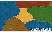 Political 3D Map of Gorgadji, darken