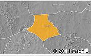Political 3D Map of Gorgadji, desaturated