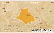 Political 3D Map of Gorgadji, satellite outside