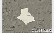 Shaded Relief Map of Gorgadji, darken