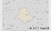 Shaded Relief Map of Gorgadji, desaturated