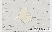 Shaded Relief Map of Gorgadji, semi-desaturated