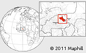 Blank Location Map of Seno