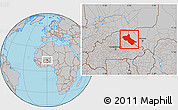 Gray Location Map of Seno