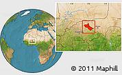 Satellite Location Map of Seno