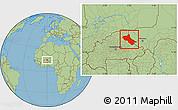 Savanna Style Location Map of Seno