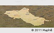 Satellite Panoramic Map of Seno, darken