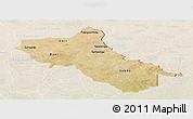 Satellite Panoramic Map of Seno, lighten