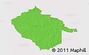 Political 3D Map of Sebba, cropped outside