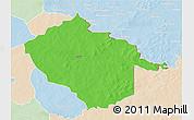 Political 3D Map of Sebba, lighten