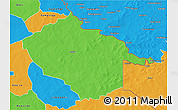 Political 3D Map of Sebba