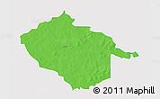 Political 3D Map of Sebba, single color outside