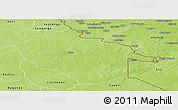 Physical Panoramic Map of Sebba