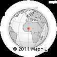 Outline Map of Seytenga