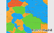 Political Simple Map of Seno