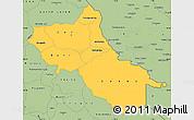 Savanna Style Simple Map of Seno