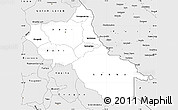 Silver Style Simple Map of Seno