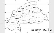 Blank Simple Map of Burkina Faso, cropped outside